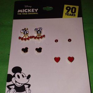 DISNEY MICKEY MOUSE 90 YEARS 4pc EARRINGS SET